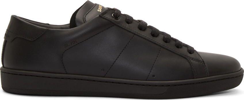 Lanvin Black SL01 Court Classic Sneakers kb6kKS3aAa