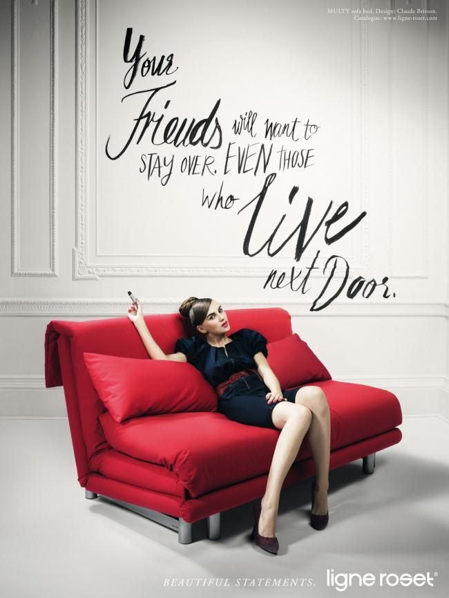 ad campaign ligne roset furniture campaign by jvm