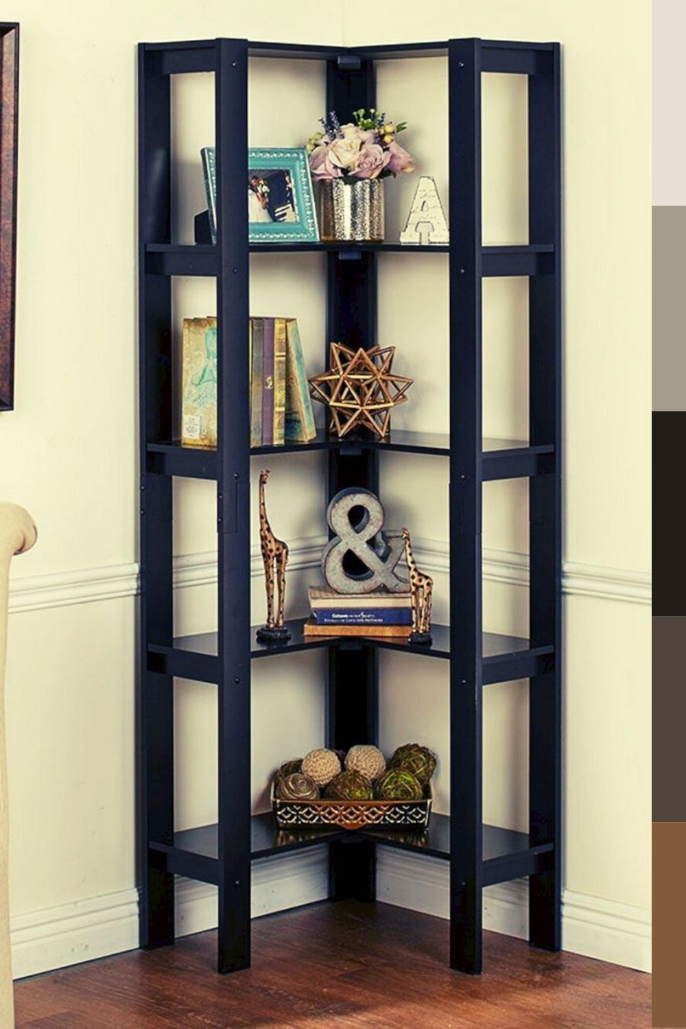 Details About White 5 Tier Tall Corner Shelf Shelving Unit Display Stand Home Bathroom Lounge Tall Corner Shelf Wooden Corner Shelf Corner Shelves Shelf Decor Living Room Tall Corner Shelf Corner Shelves