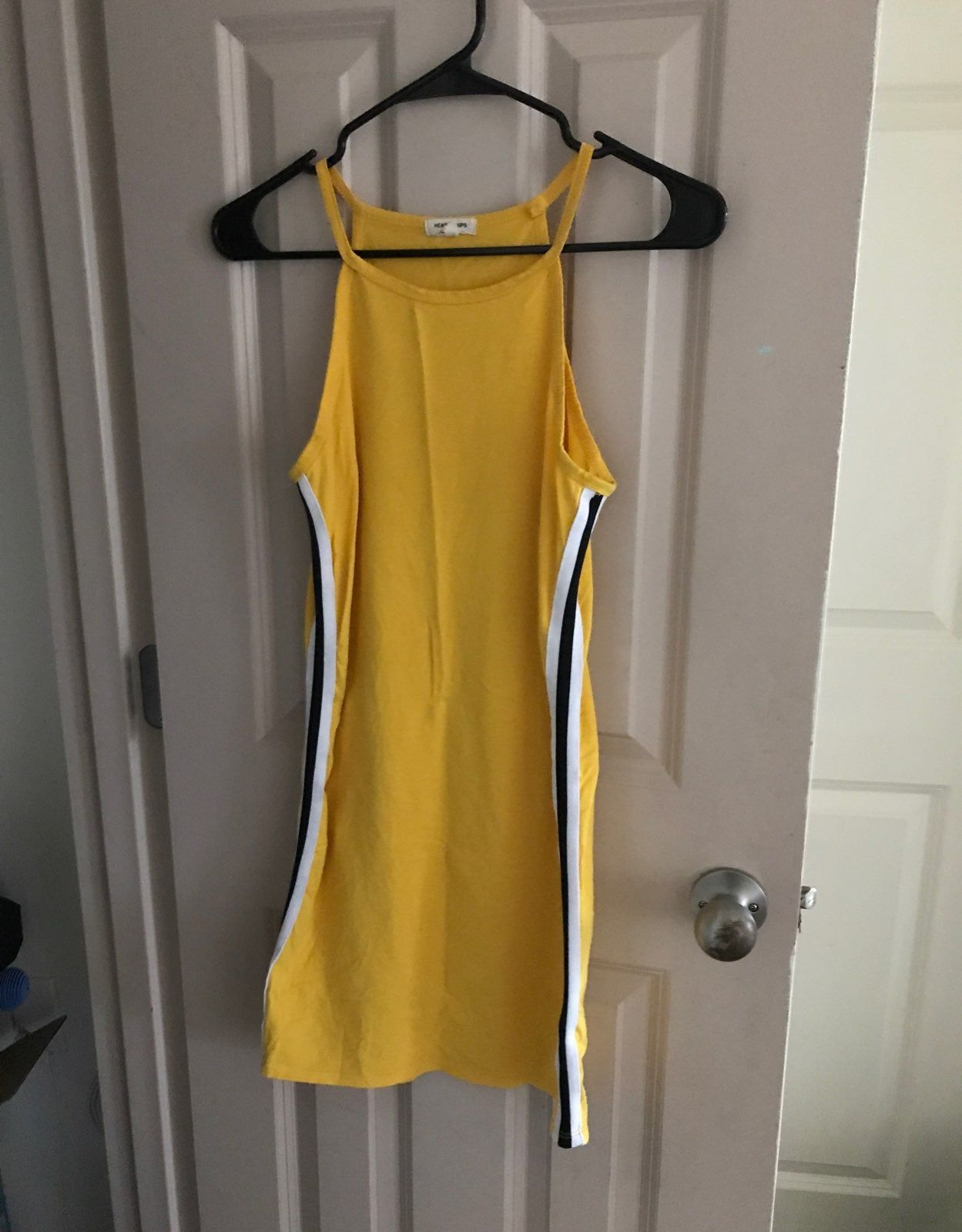 Yellow Bodycon Dress Size L Fashion Nova (With images
