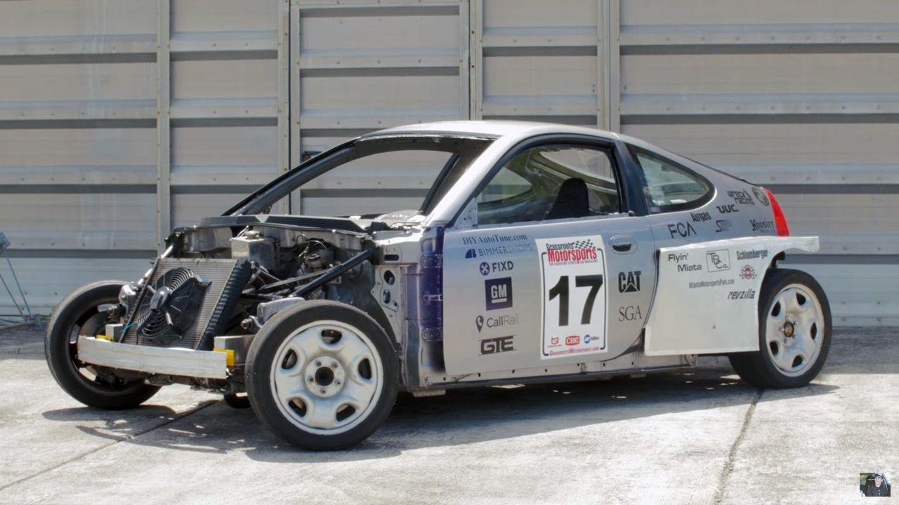 Wreck Racing S Honda Insight With A Subaru Flat Six