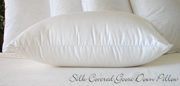 Silk Covered Goose Down Pillow <3