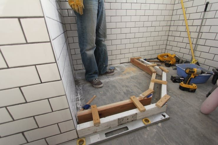 How To Build A Custom Tiled Shower Pan With Images Custom Tile Shower