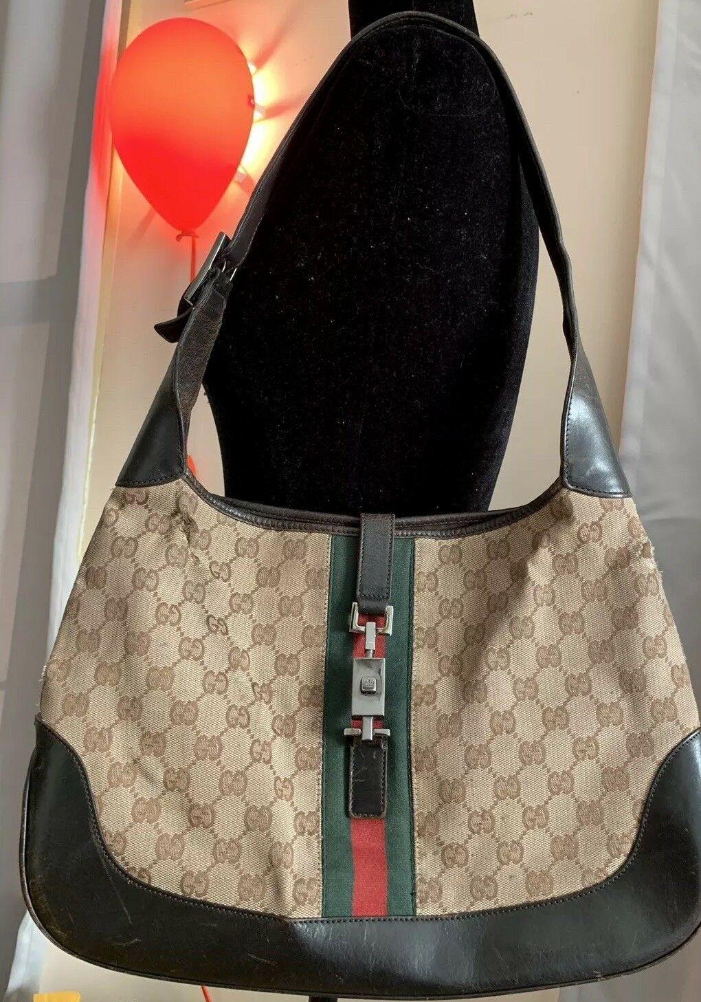 82d573a5914d #FORSALE GUCCI Vintage Womens Shoulder Bag Handbag / Purse Monogram Classic  Leather - $84