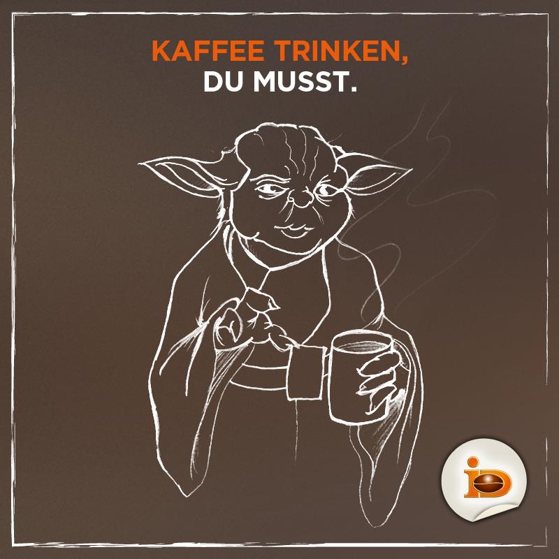 Yoda Kaffee Darboven StarWars Kaffee macht Spaß