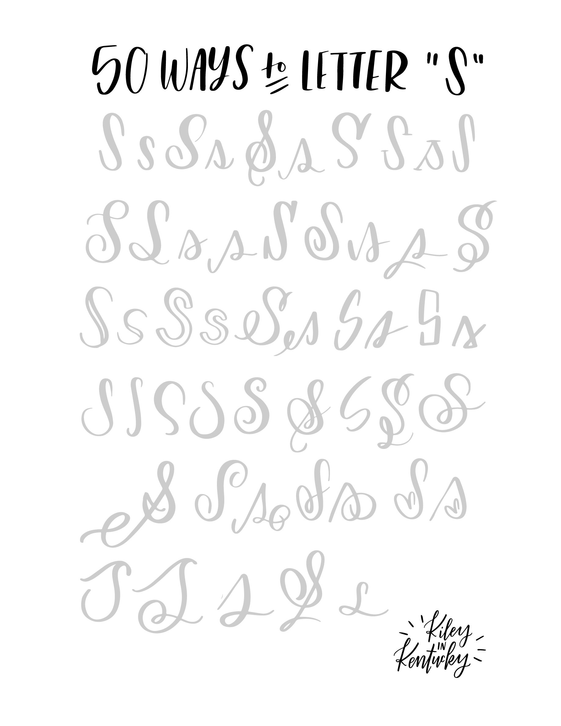 Easy Cursive Worksheet