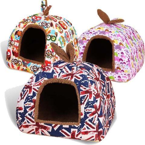 hot fleece soft pet yurt home dog bed puppy dog kennel pet bed house for dog
