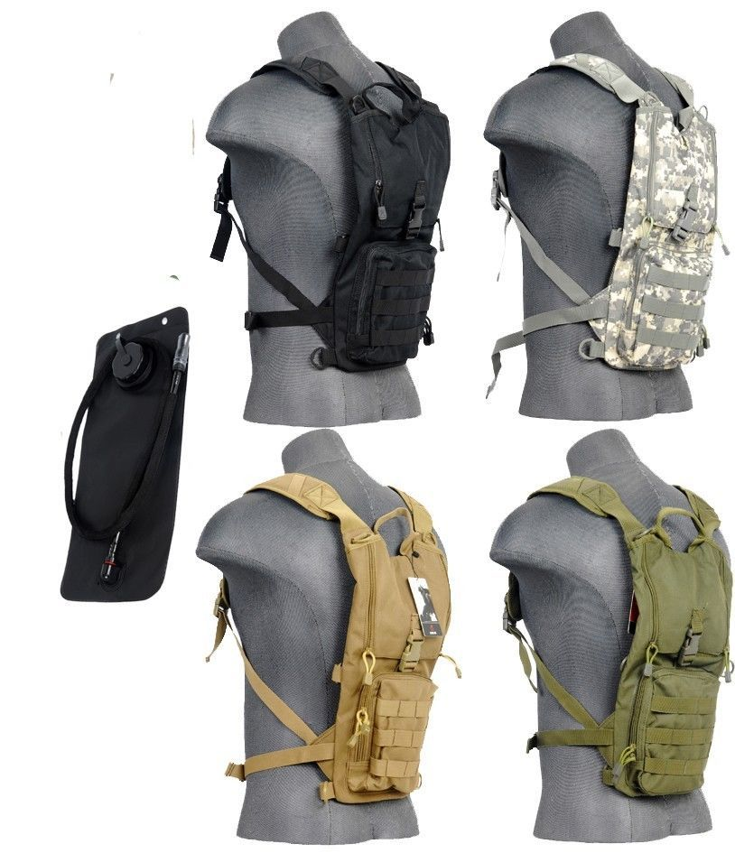 8afbe957c46 Details about Lancer Tactical Light Weight Hydration Pack With ...
