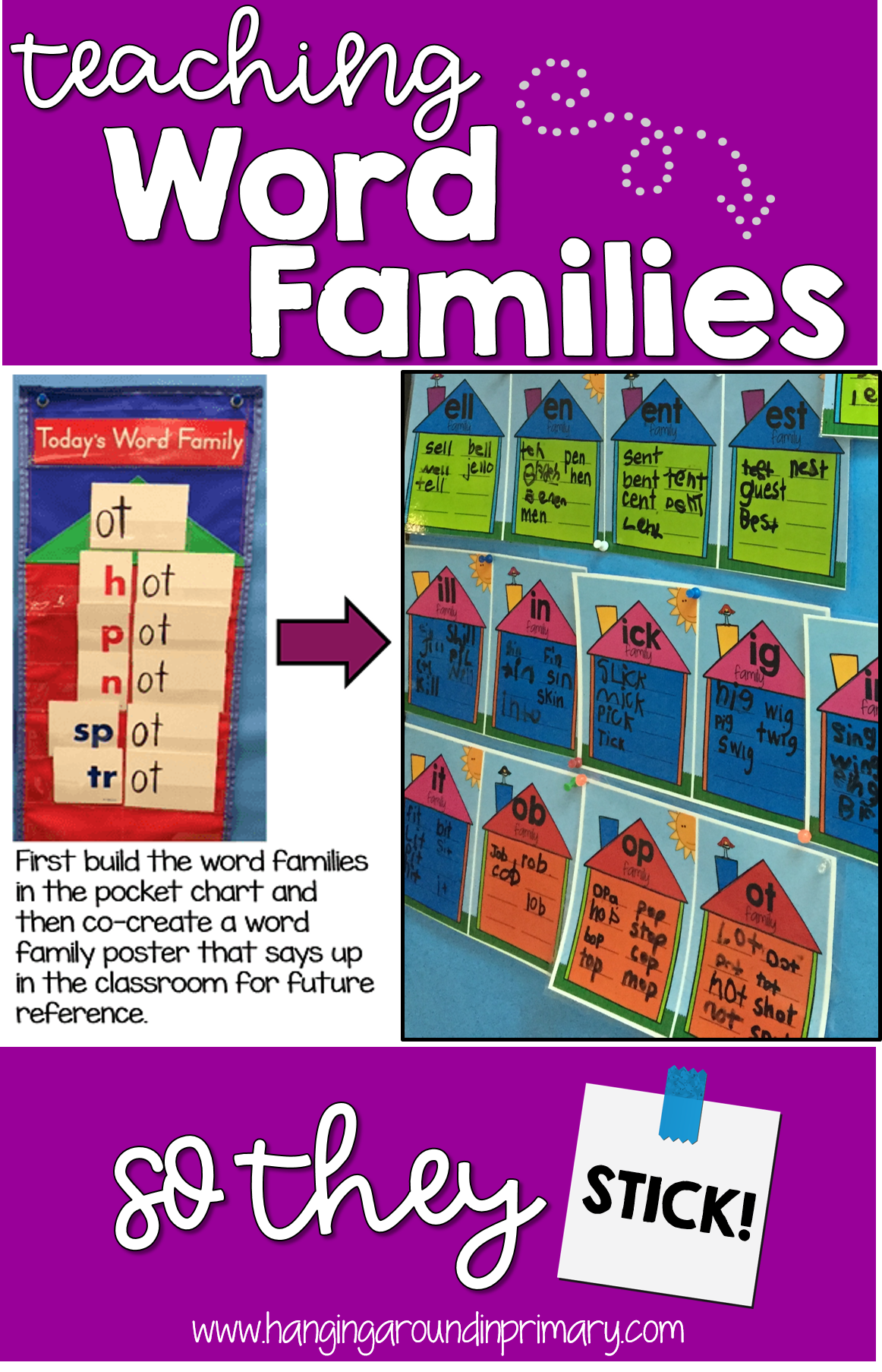 Learn how to teach word family words so that they stick kids will