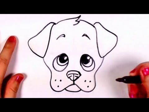 How To Draw A Cute Puppy Face Step By Step Cc Youtube Crafts