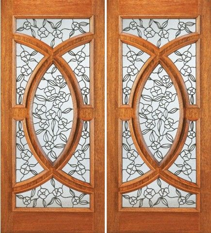 Best 3080 Front Double Door Mahogany Radius Lite Insulated 400 x 300