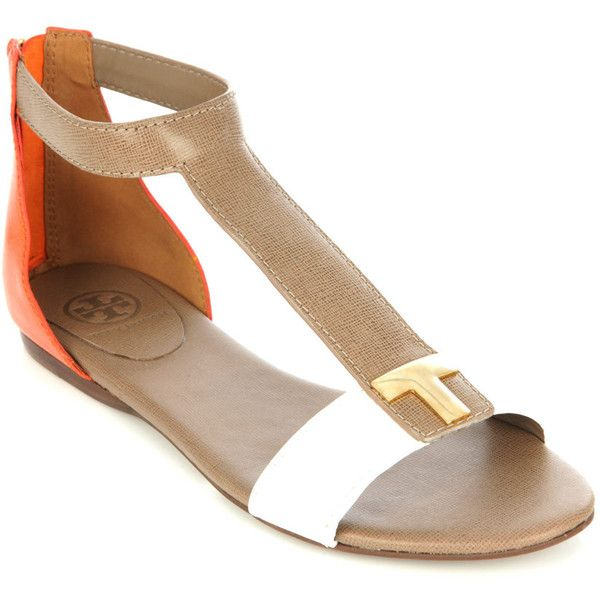 5185aa1a2 Tory Burch Casey flat sandals found on Polyvore