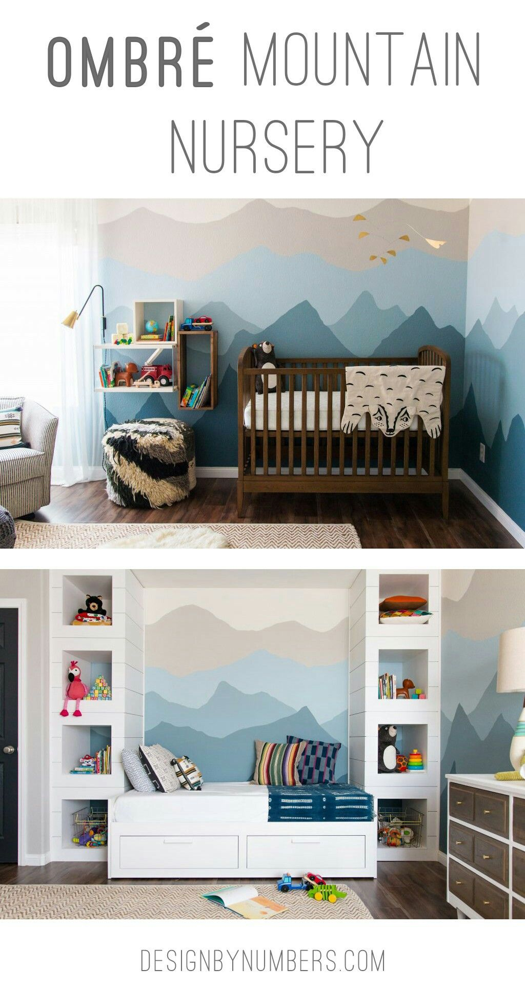 Ombré Mountain Nursery Baby Room Pinterest