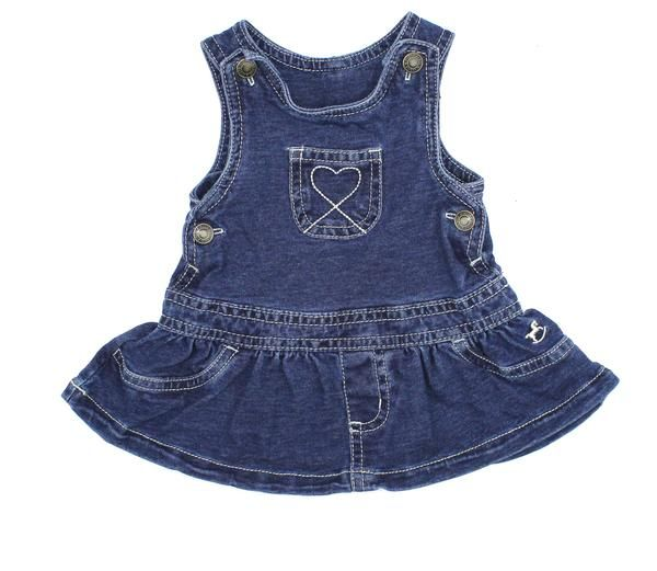 Sweet Denim Look Stretch Baby Girl Dress Size 0 3 Months And Only 4 Online Resale May Bug Treasures Baby Girl Clothes Girl Outfits Denim Jumper Dress
