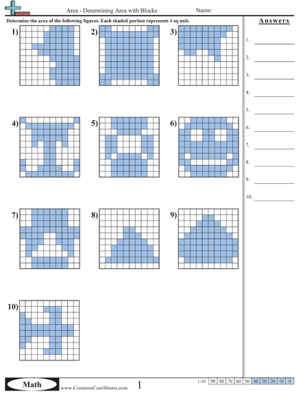 Area & Perimeter (from an awesome Common Core worksheet site ...