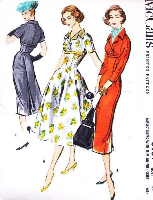 Pin de Vassiliki Tomaras en 1950\'s Fashion   Pinterest   Patrones ...