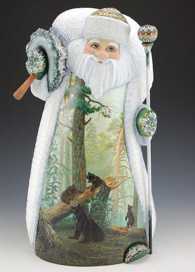 Emerald Santa with Bears