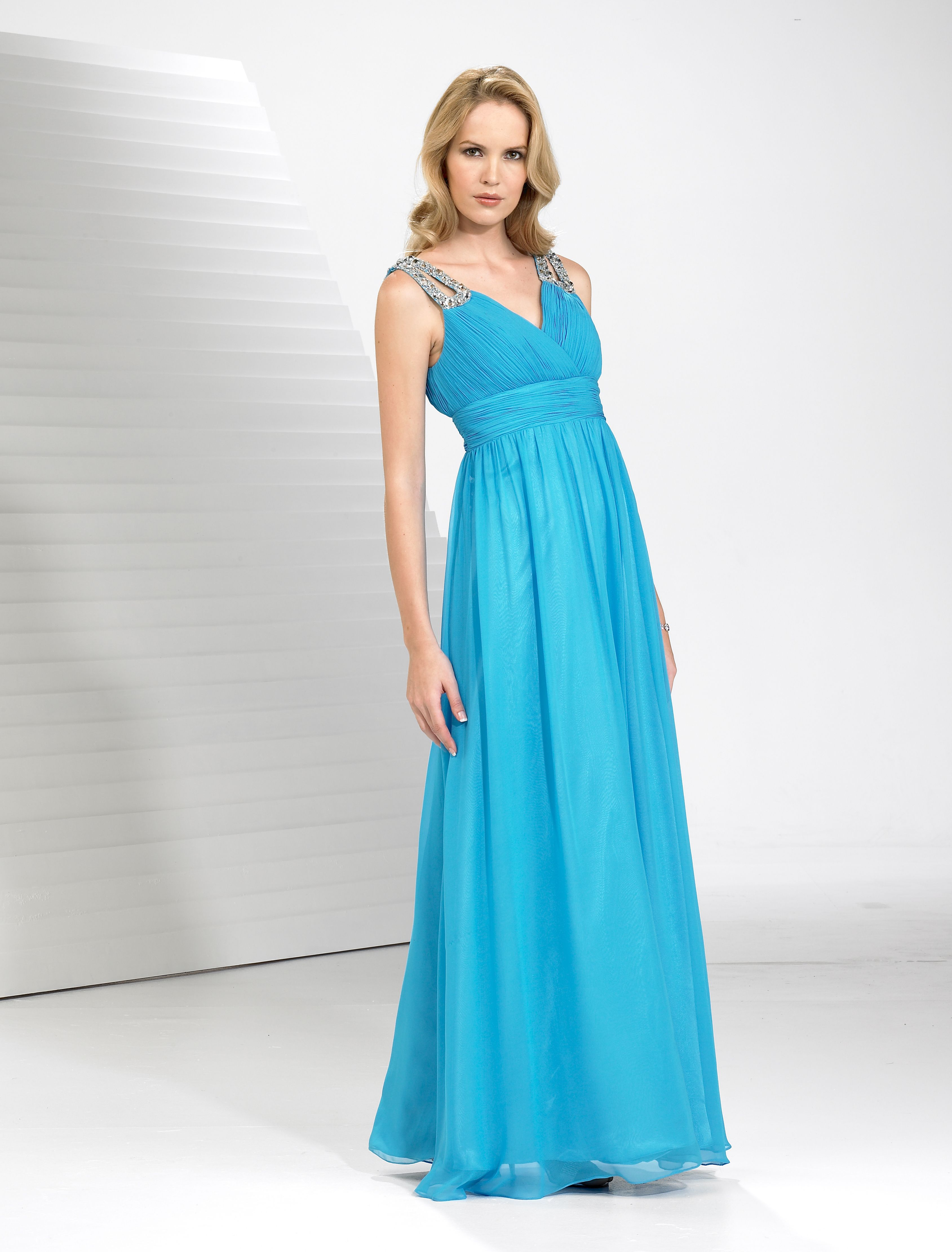 Long turquoise prom gown would look fabulous on you. | Prom Dresses ...