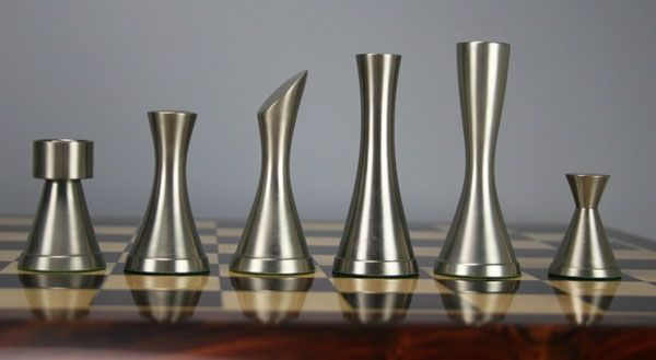Steel Chess Set amazing vintage steel chess set! abstract representation for