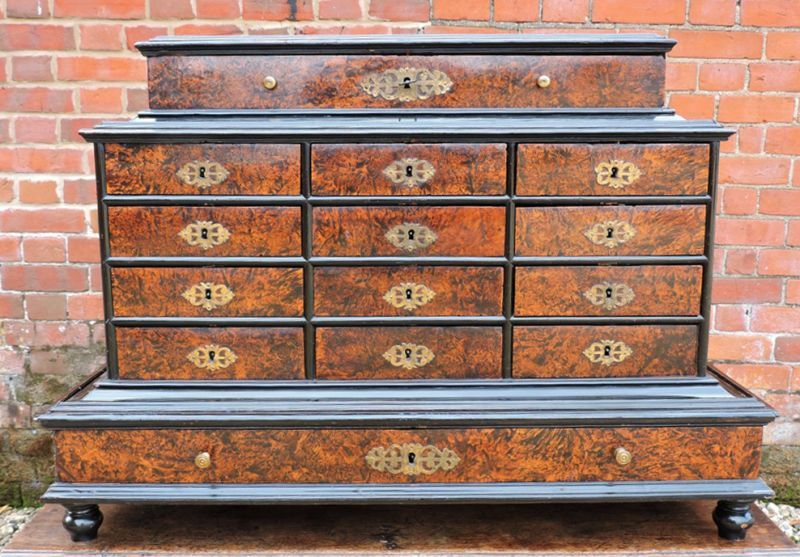 17thC Flemish antique burrwood table top collectors cabinet - simply  stunning! - 17thC Flemish Antique Burrwood Table Top Collectors Cabinet - Simply