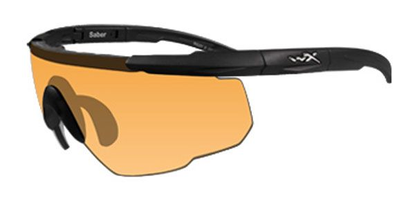 9b93c6c13a Wiley X Saber Advanced Ballistic Safety Glasses with Matte Black Frame and  Pale Yellow Lenses
