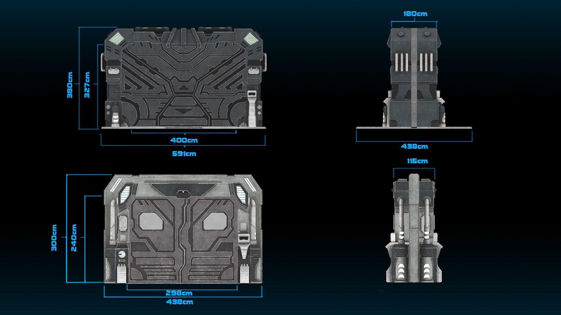 Image result for scifi door Necromunda Terrain