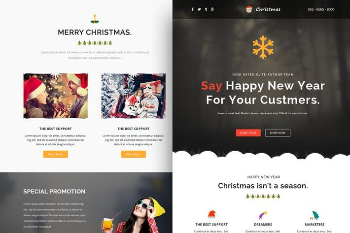 Christmas Responsive Email Template Online Build by CastelLab Web