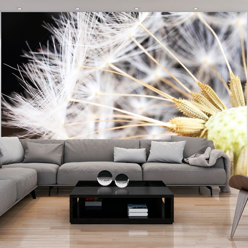 Wallpaper Fluffy Dandelion In 2020 3d Wallpaper Mural