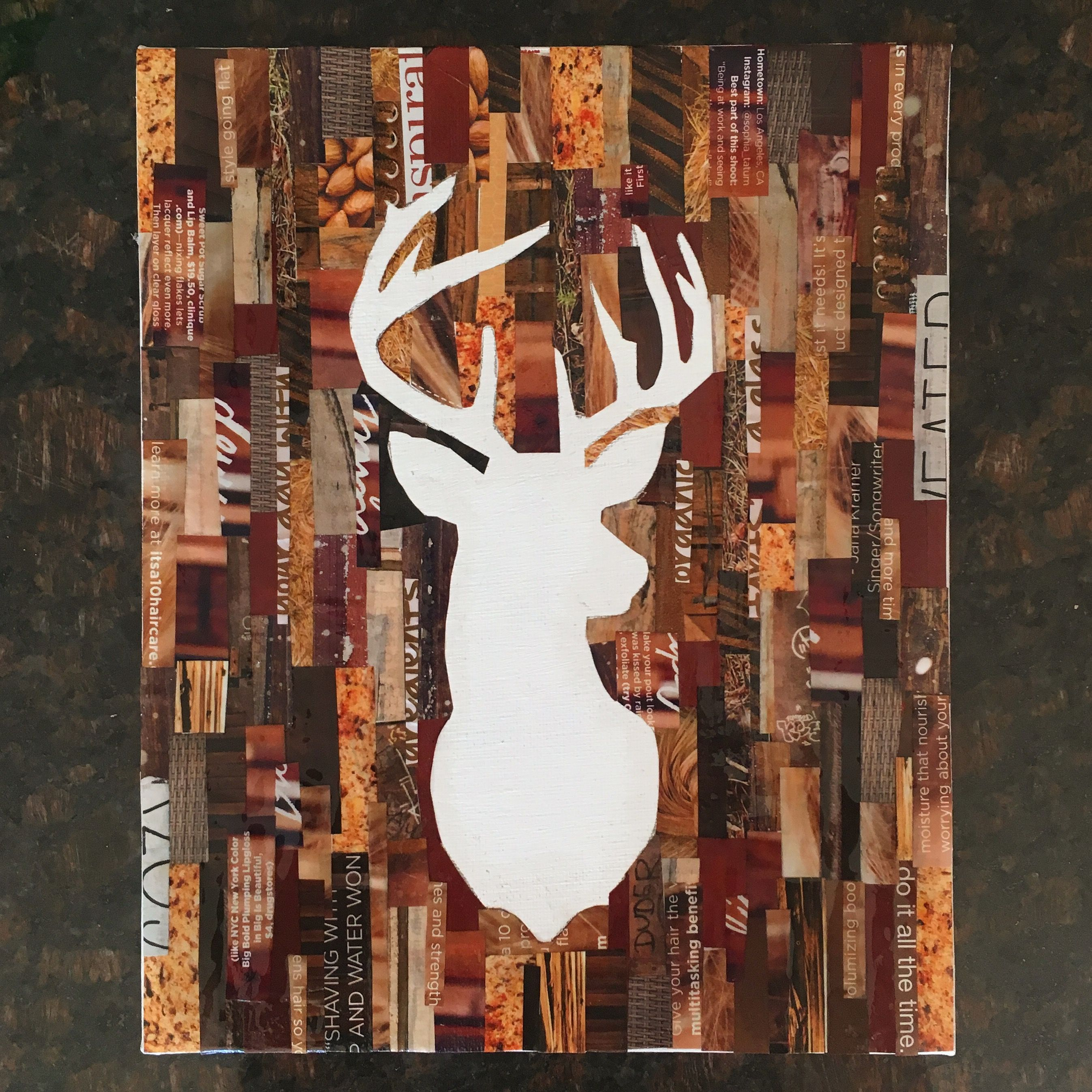 Photo of Fun and easy craft to make with old magazine paper. #Diy #Deer #M