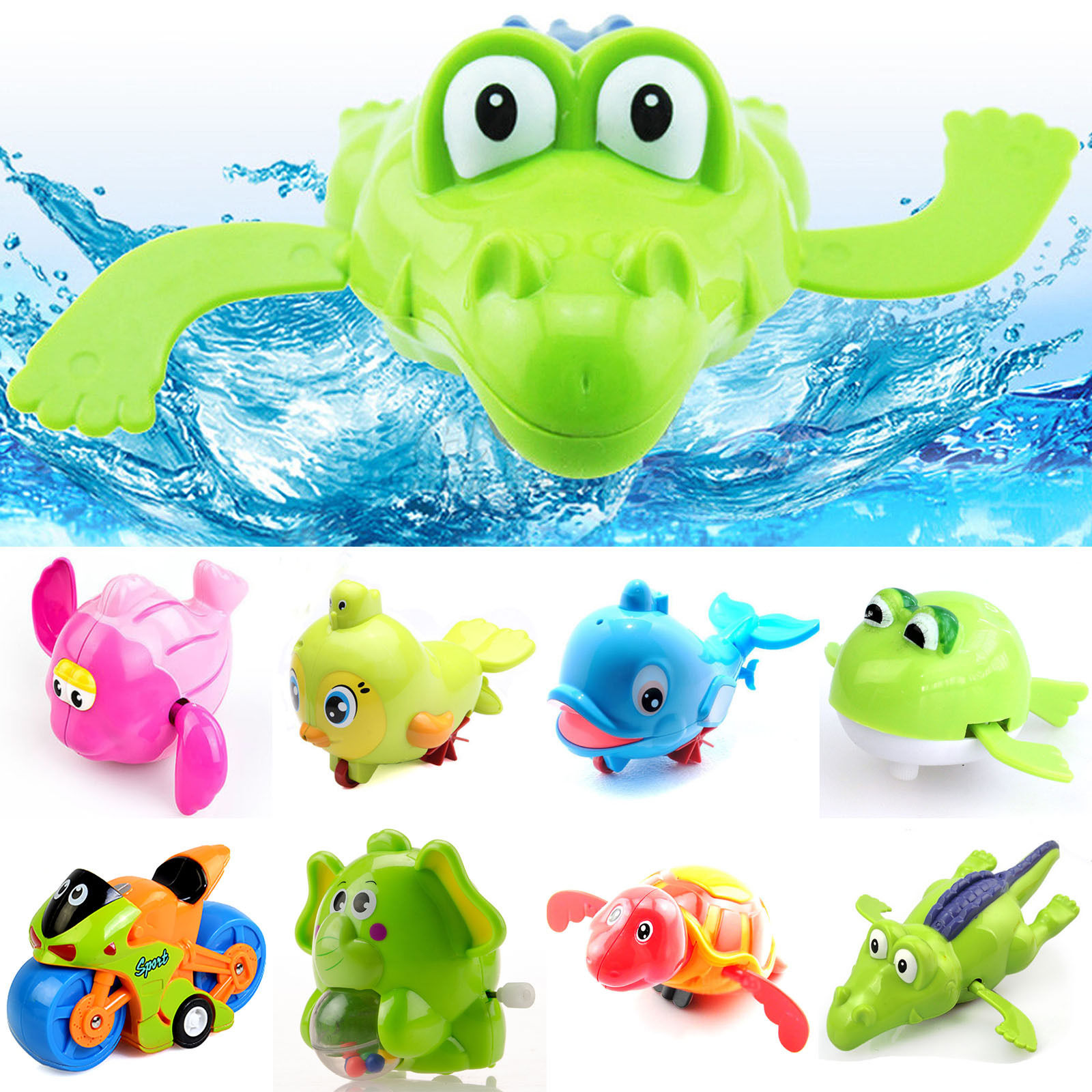 Toys images clip art  High New Windup Bathing Animal Toys for Baby Infant Kids Children