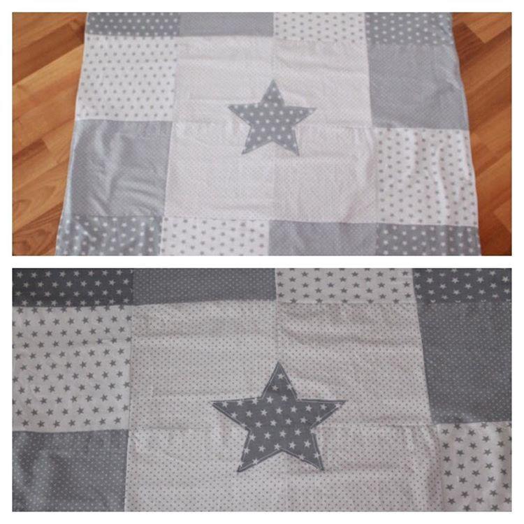 Decke Sterne decke mit patchwork decke punkte sterne nähen