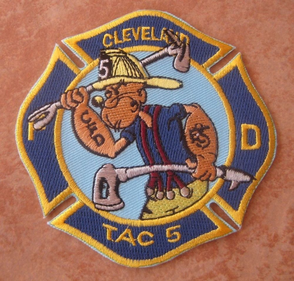 CLEVELAND OHIO FIRE DEPT TAC 5 POPEYE PATCH UNUSED ...