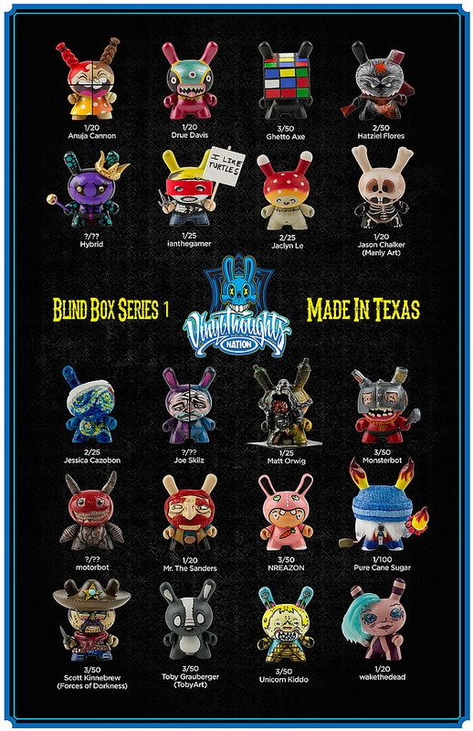 Full Reveal of the 'Vinyl Thoughts Nation Blind Box Series'