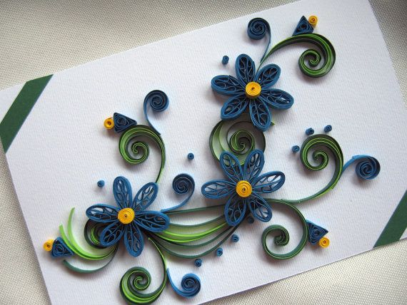 Quilling Greeting Card Handmade Thank You Card Paper Quilling