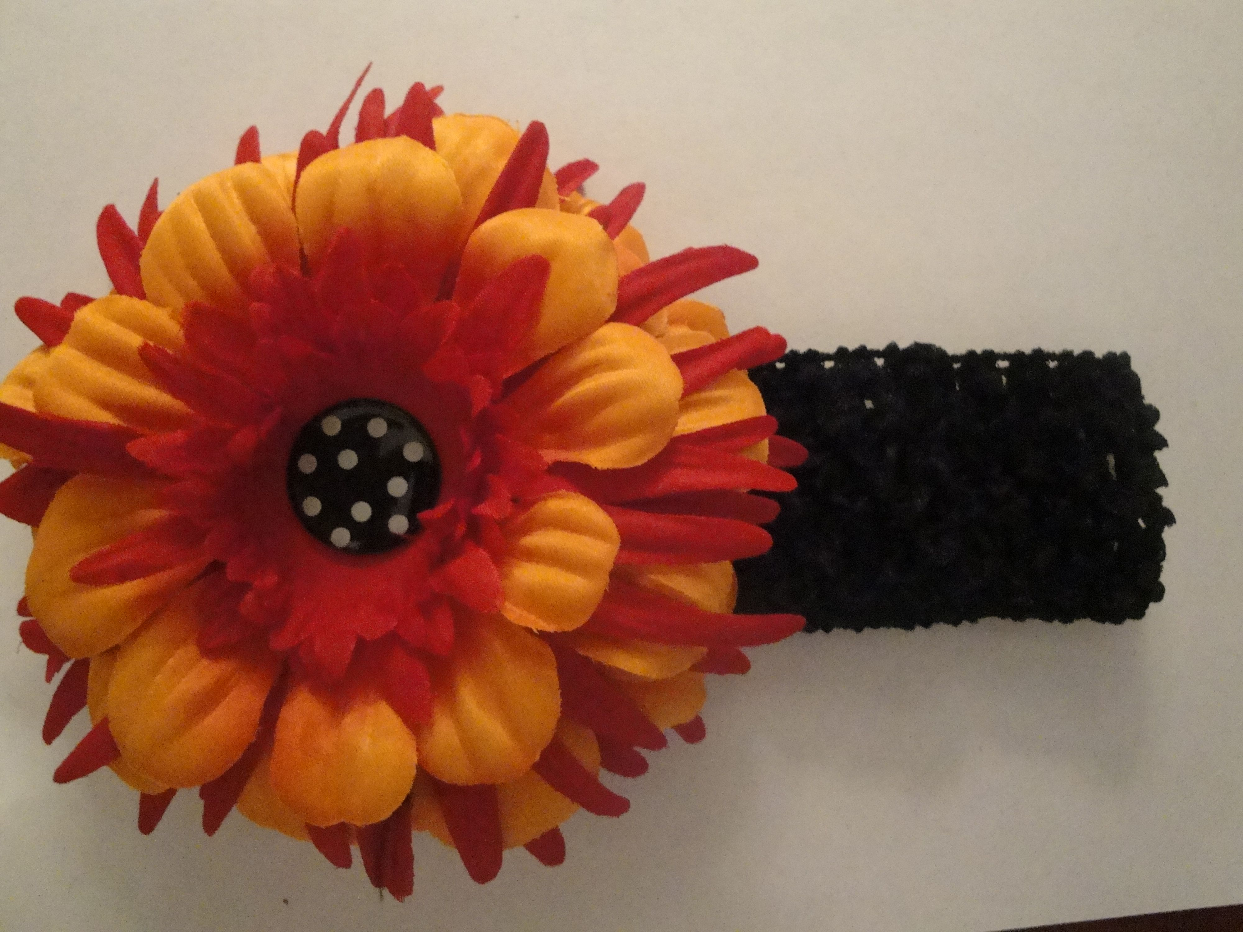 Hair headband with pretty flower attached!