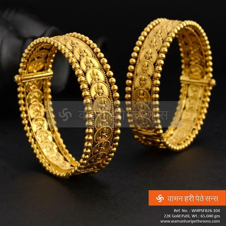 Matching Bangles For Lakshmi Haar Maharashtrian