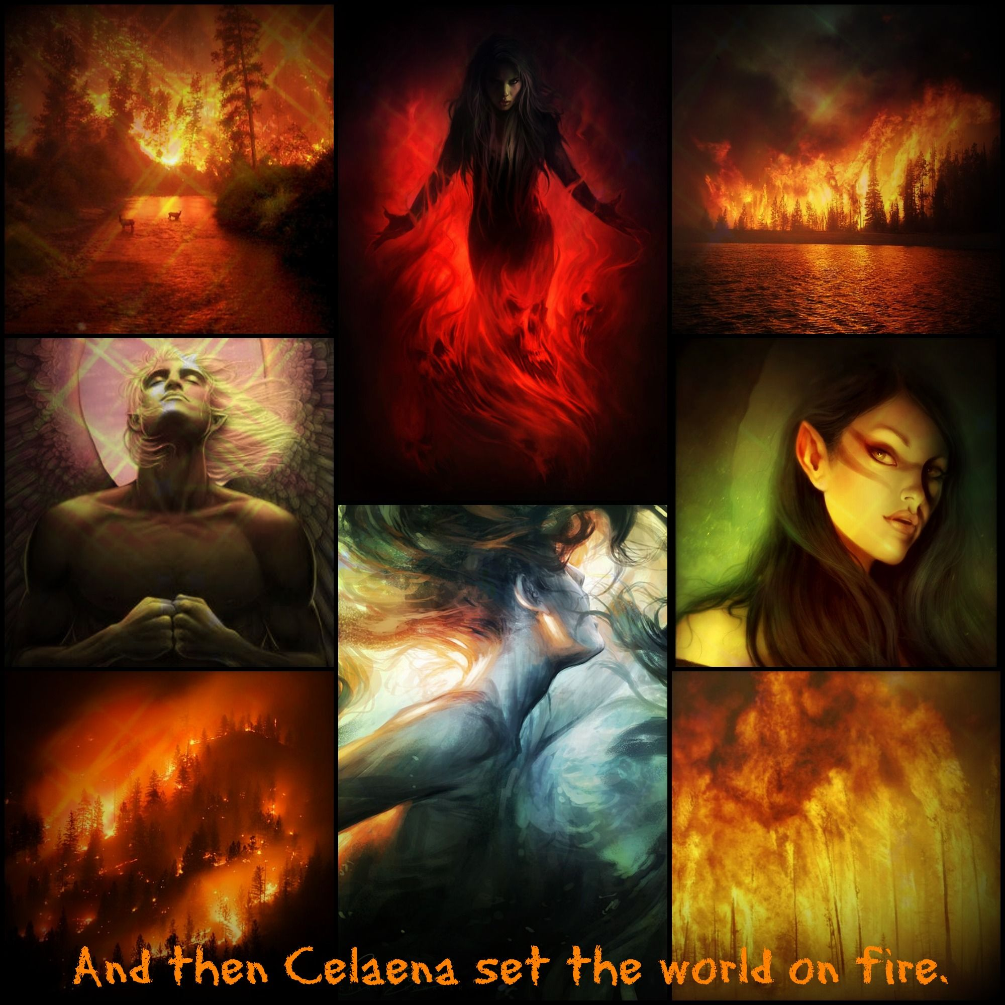 love this edit and then celaena set the world on fire throne