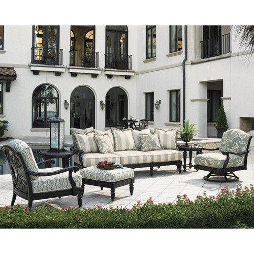 Tommy Bahama Outdoor Living Kingstown Sedona 6 Piece Patio Set With Terback Sofa Baer S Furniture Conversation Chat Mi