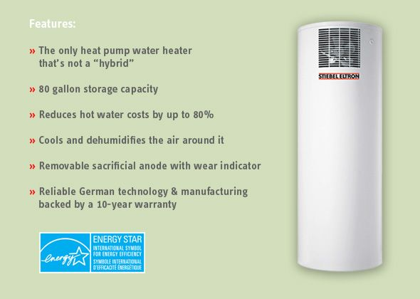 Heat Pump Water Heater Accelera 300 From Stiebel Eltron Reduces