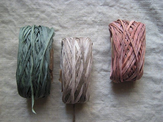 Someone tell me what this is. Silk ribbon? Looks hand dyed.