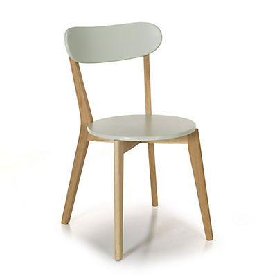 Siwa Chaise design scandinave coloris vert amande