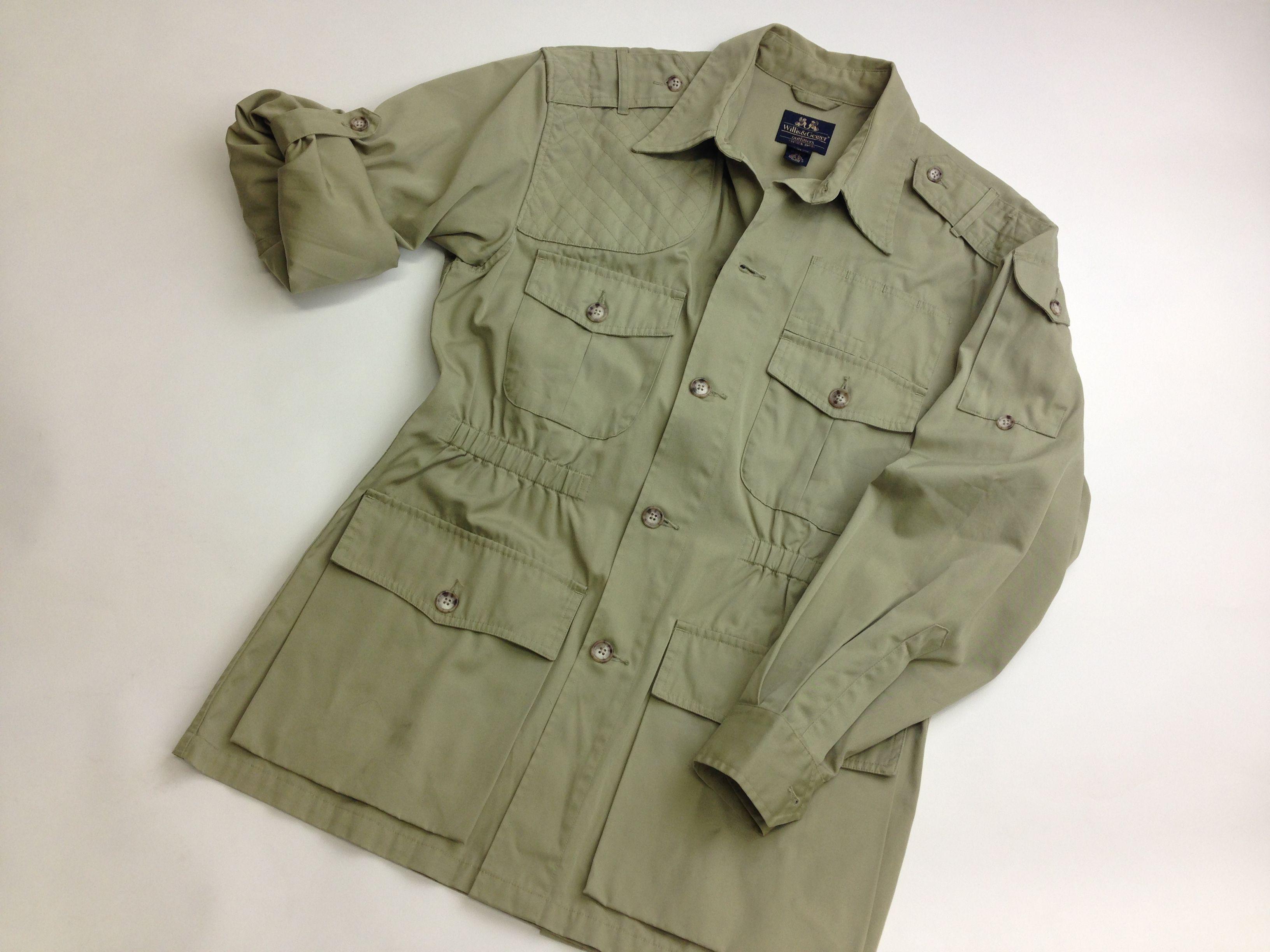 Willis Amp Geiger Hemingway Bush Jacket Pewter Green Size M