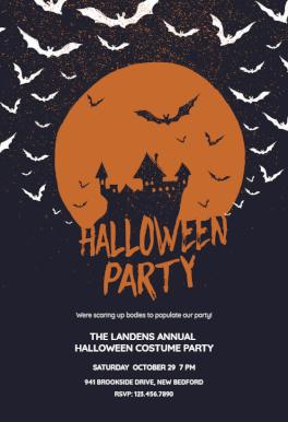 Haunted House Halloween Party Invitation Template Free Greetings Island Halloween Costume Party Invitations Halloween Party Invitation Template Free Halloween Party Invitations