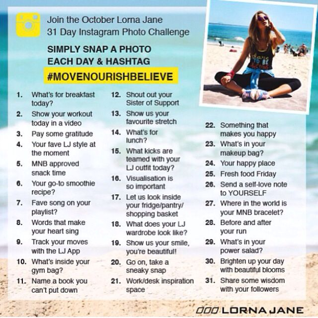 lorna jane monthly photo challenge could do anytime workout 30 day