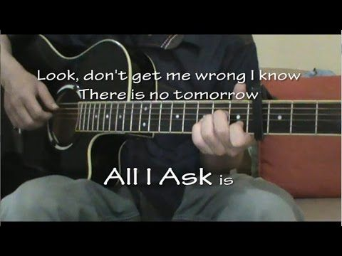 Adele All I Ask Acoustic Guitar Karaoke
