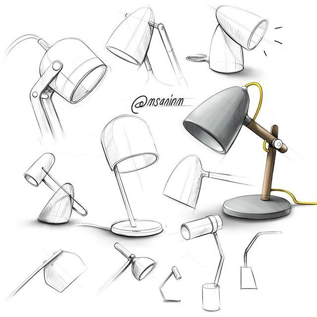 Another Table Lamp Exploration For Our Personal Brand Moakstudio Sketch Design Sketch Furniture Design Sketches Interior Design Sketches