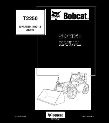 Bobcat t2250 telescopic handler service repair manual