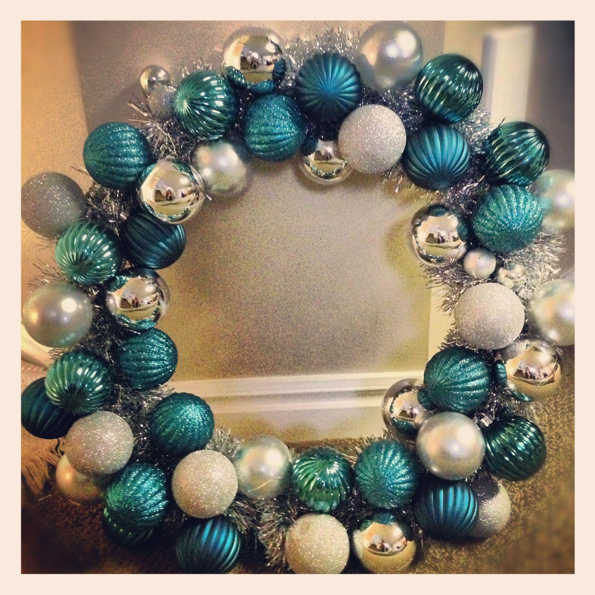 Tinsel ornament wreath christmas OCEAN CHRISTMAS