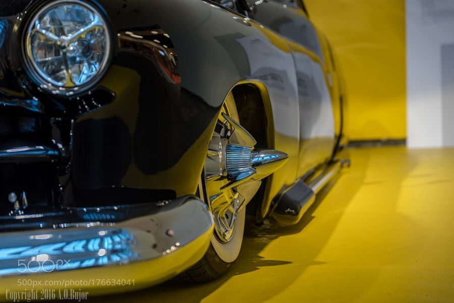 The Batmobile by OvidiuBujor with yellowcarbokehblackmirrorreflectingspecialAutomotiveAutomobile
