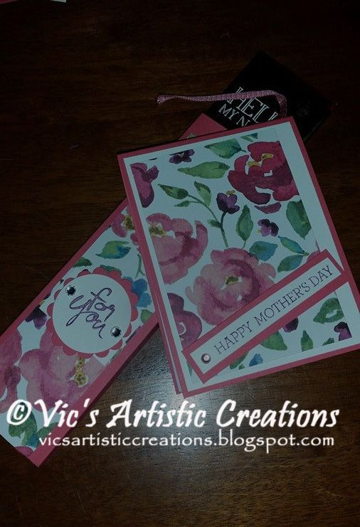 Mother's Day Gift and Card  #StampinUp! #vicsartisticcreations  #waterpaintedpetals #mothersday